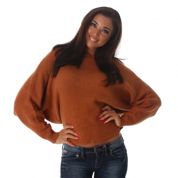 CAMEL SWEATER WIDE HANDLE