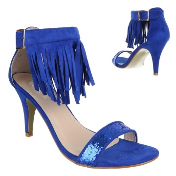 WOMAN SANDALS WITH FRINGES 14918