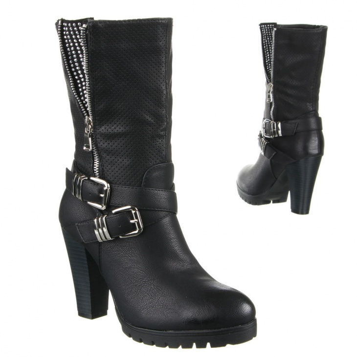WOMEN'S BOOTS WITH BUCKLES AND HINGES